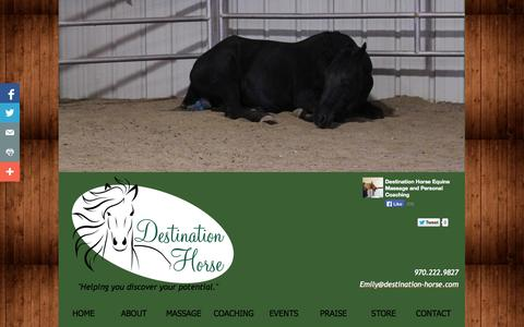 Screenshot of Privacy Page Contact Page destination-horse.com - Contact Us- Destination Horse - captured Oct. 23, 2014