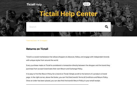 Returns on Tictail  – Tictail Help Center