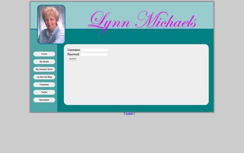 Screenshot of Login Page lynnmichaels.us - Lynn Micheals Contemporary Romance Author - captured Feb. 2, 2018