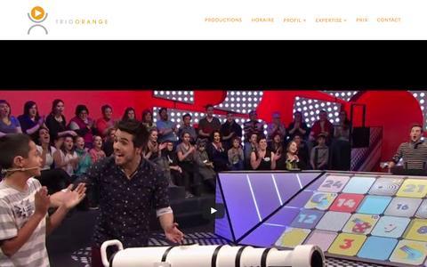 Screenshot of Home Page trioorange.com - Accueil - Trio Orange - captured Aug. 15, 2015
