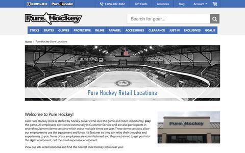 Screenshot of Locations Page purehockey.com - Hockey Stores Near Me - Pure Hockey Retail Store Locations - Pure Hockey - captured Dec. 12, 2015