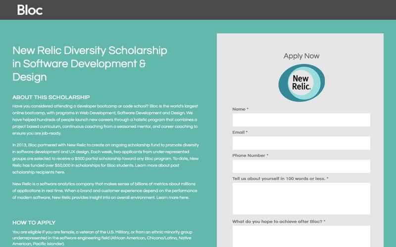 Bloc | Programming Bootcamp Diversity Scholarship