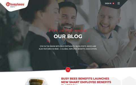 Screenshot of Blog busybeesbenefits.com - Blog | Busy Bees Benefits | Busy Bees Benefits - captured Nov. 6, 2018