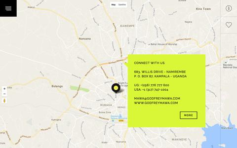 Screenshot of Contact Page godfreymawa.com - Contact  –  Godfrey Mawa - captured Nov. 11, 2016
