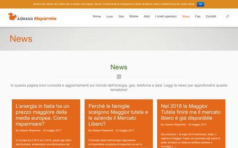 Screenshot of Press Page adessorisparmio.it - News - Adesso RisparmioAdesso Risparmio - captured May 29, 2017