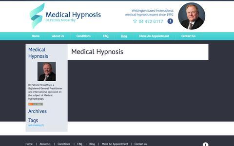 Screenshot of Blog medicalhypnosis.co.nz - Hypnotherapy NZ | Hypnosis NZ | New Zealand - captured April 11, 2017