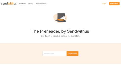 The Preheader · Sendwithus