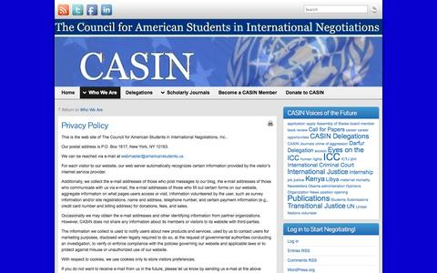 Screenshot of Privacy Page americanstudents.us - Privacy Policy   - captured Oct. 3, 2014