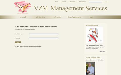 Screenshot of Login Page vzm.net - Login - VZM - captured Oct. 18, 2018