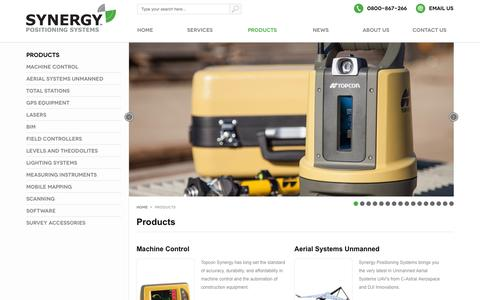 Screenshot of Products Page synergypositioning.co.nz - Products    Authorised Topcon Dealer   Synergy Positioning Systems - captured Oct. 9, 2014