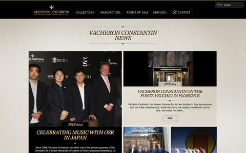 Screenshot of Press Page vacheron-constantin.com - News from the Vacheron Constantin Manufacture, Swiss Haute Horlogerie - Vacheron Constantin - captured Sept. 25, 2014