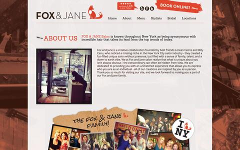 Screenshot of About Page creativehaus.com - About East Village - Fox and Jane Salon - captured Sept. 19, 2014