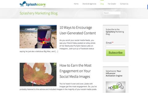 Screenshot of Blog splashscore.com - Splashscore   –  Blog - captured Sept. 17, 2014