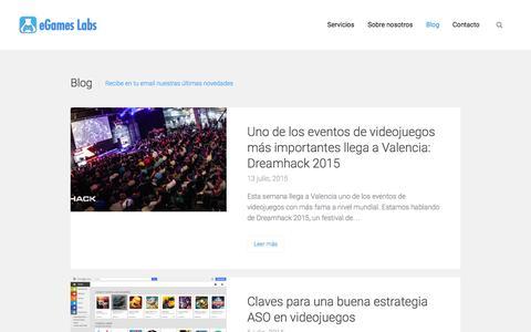 Screenshot of Blog egameslabs.com - eGames Labs - Blog - captured Dec. 14, 2015
