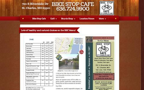 Screenshot of Menu Page bikestopcafes.com - BIKE STOP CAFE - Menu - captured Oct. 5, 2014
