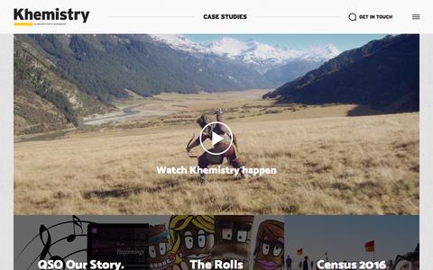 Screenshot of Case Studies Page khemistry.com.au - Our Work | Khemistry - captured Sept. 20, 2018