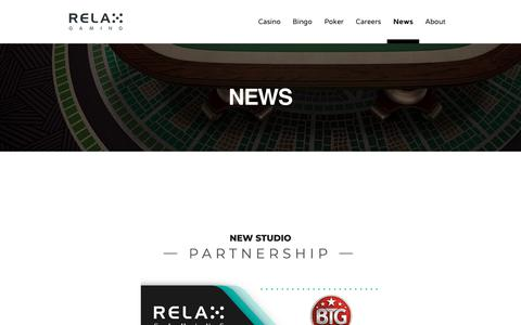 Screenshot of Press Page relax-gaming.com - NEWS - Relax Gaming Ltd. - captured Oct. 18, 2018