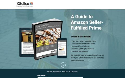 Screenshot of Landing Page xsellco.com - A Guide to Amazon Seller-Fulfilled Prime and Buy Shipping - captured June 21, 2016