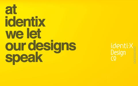 Screenshot of Home Page identixdesign.com - Identix Design Co - captured Sept. 16, 2015