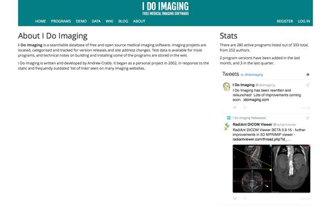 Screenshot of About Page idoimaging.com - About : I Do Imaging - captured May 25, 2017