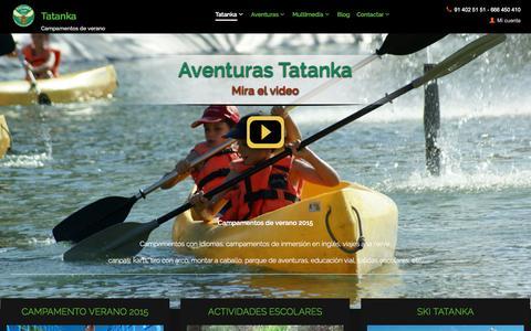 Screenshot of Home Page campamentostatanka.es - Campamentos de verano: campamentos inglés y campamentos francés | Campamentos Tatanka - captured Jan. 26, 2015