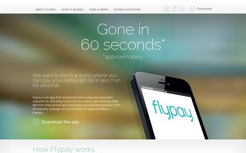 Screenshot of Home Page flypay.co.uk - Flypay - captured July 11, 2014