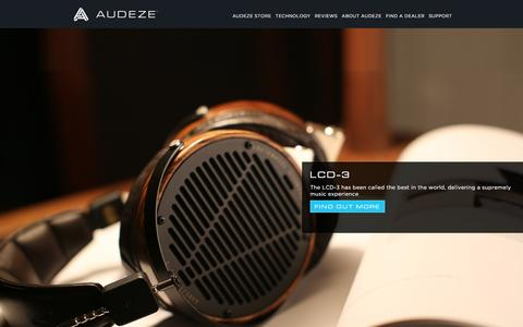 Screenshot of Home Page audeze.com - Home | Audeze  Uncompromised Audio - home page - captured Dec. 27, 2015