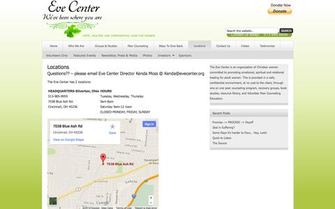 Screenshot of Locations Page evecenter.org - Locations | Eve Center - captured Sept. 30, 2014