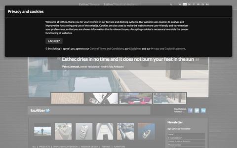 Screenshot of Press Page esthec.com - Esthec home - captured Sept. 28, 2018