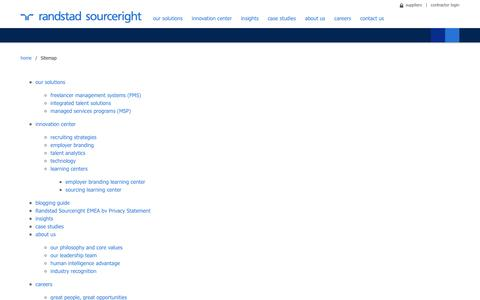 Sitemap | Randstad Sourceright