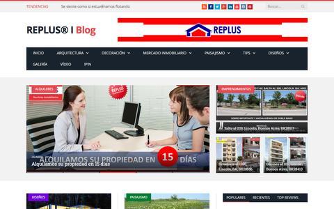 Screenshot of Blog replus.com.ar - REPLUS® I Blog - captured Feb. 15, 2016