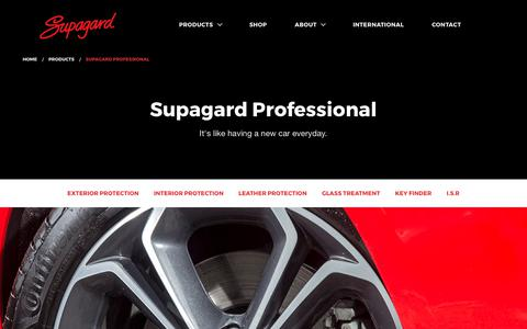 Screenshot of Products Page supagard.co.uk - Supagard | Paint, Fabric and Leather Protection - captured Oct. 25, 2017