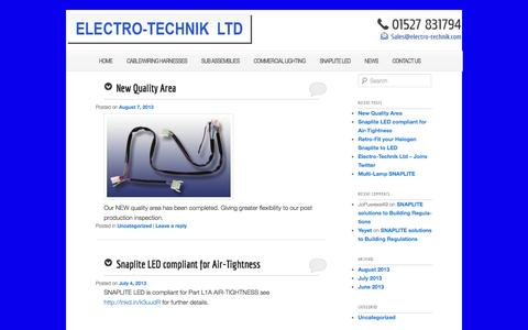 """Screenshot of Press Page electro-technik.com - News 