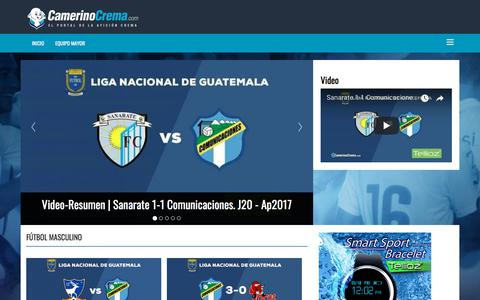 Screenshot of Home Page camerinocrema.com - Inicio - captured Nov. 18, 2017