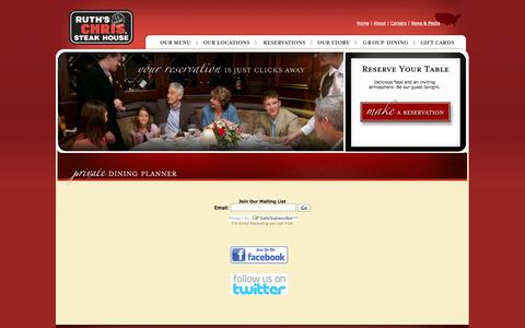Screenshot of Signup Page ruthschris.ae - Ruth's Chris Steak House : Registration > User Account - captured Oct. 6, 2014