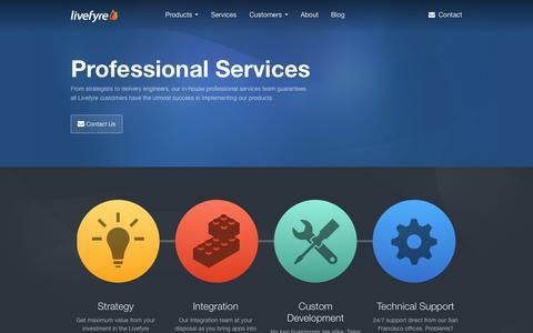 Screenshot of Services Page livefyre.com - Services | Livefyre - captured Sept. 16, 2014