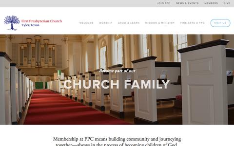 Screenshot of Signup Page fpctyler.com - Join FPC — First Presbyterian Church - captured Nov. 25, 2016