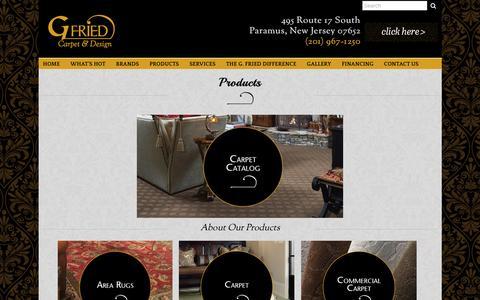 Screenshot of Products Page gfriedcarpet.net - Products-Flooring-Paramus, NJ - captured Jan. 24, 2016