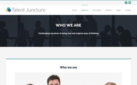 Screenshot of About Page talentjuncture.com - About us – Talent Juncture - captured Aug. 16, 2016
