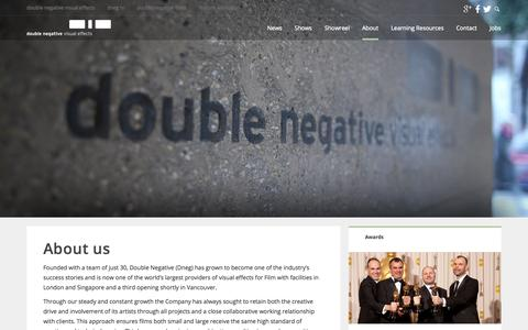Screenshot of About Page dneg.com - Double Negative – About Us | Double Negative - captured Nov. 3, 2014