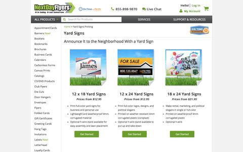 Yard Sign Printing | Custom Outdoor Yard Signs | NextDayFlyers