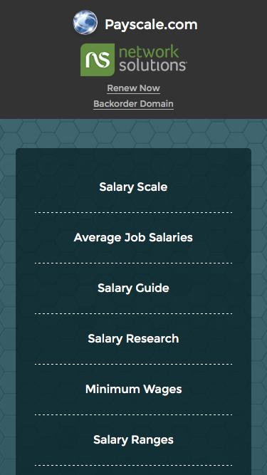 Screenshot of Landing Page  payscale.com - Payscale.com