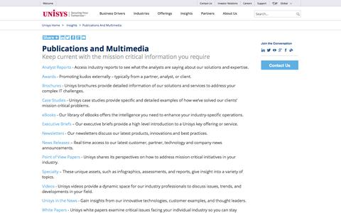 Publications and Multimedia