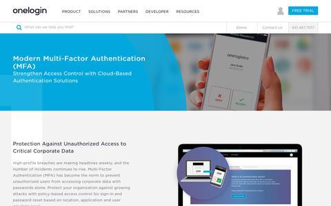 Multi-Factor Authentication Solutions - Multi Factor Auth Vendor - MFA Security Provider