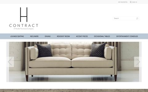 Screenshot of Home Page hcontractfurniture.com - H Contract Furniture | The Expert-Based Senior Living Furniture Brand - captured Sept. 26, 2014