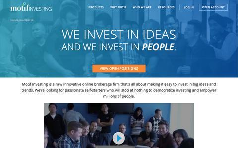 Screenshot of Jobs Page motifinvesting.com - Careers | Motif Investing - captured Nov. 22, 2015