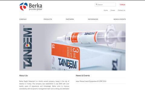 Screenshot of Home Page berkatr.com - Berka | Provides Global - captured Feb. 7, 2016