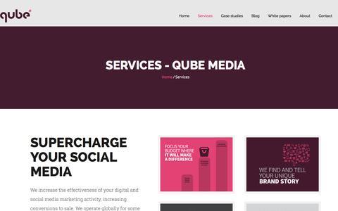 Screenshot of Services Page qubemedia.net - Services - Qube Media - captured Dec. 13, 2015