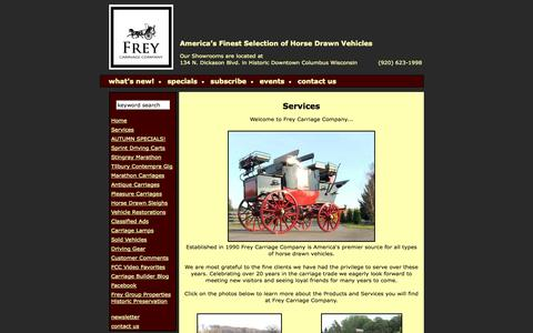Screenshot of Services Page colonialcarriage.com - Frey Carriage Company - Catalog: Services - captured Oct. 6, 2014