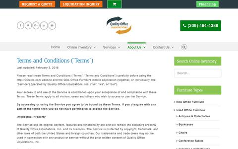 Screenshot of Terms Page qolofficefurniture.com - Terms & Conditions - - captured May 13, 2017
